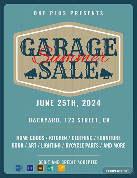 Free Printable Garage Sale Flyer Template