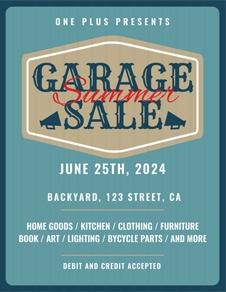 Printable Garage Sale Flyer Template