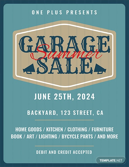 printable garage sale flyer template download 416 flyers in