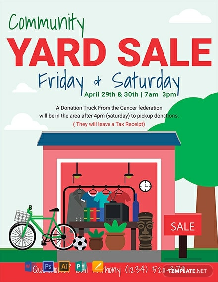 free yard sale flyer template  download 1330  flyers in