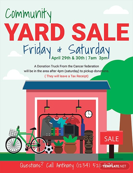 21+ Best Yard Sale Flyer Templates & PSD, Word, EPS | Free