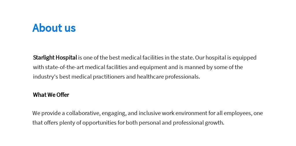 Free Medical Data Analyst Job Ad/Description Template 1.jpe