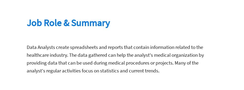 Free Medical Data Analyst Job Ad/Description Template 2.jpe