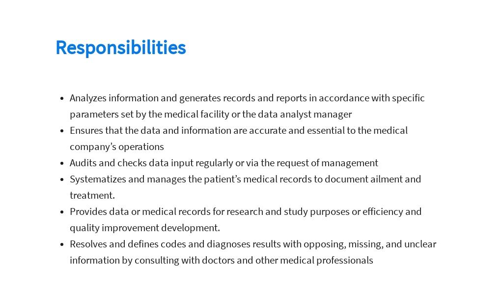 Free Medical Data Analyst Job Ad/Description Template 3.jpe