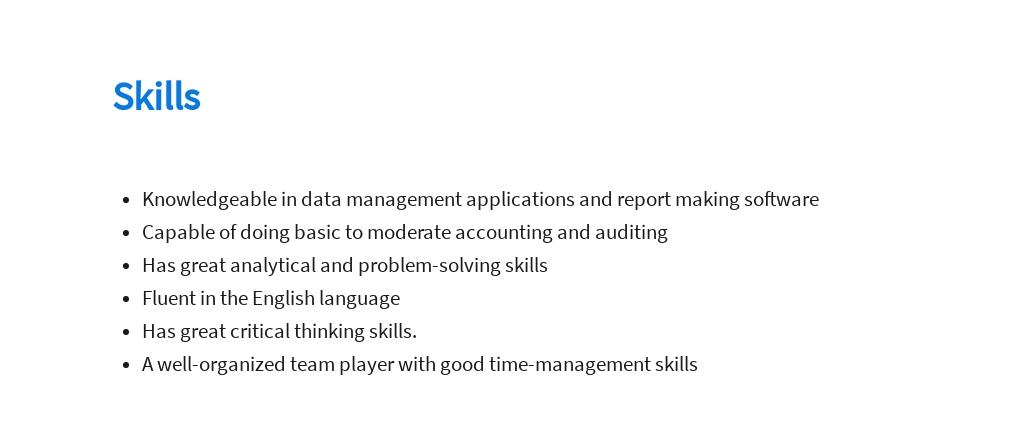 Free Medical Data Analyst Job Ad/Description Template 4.jpe