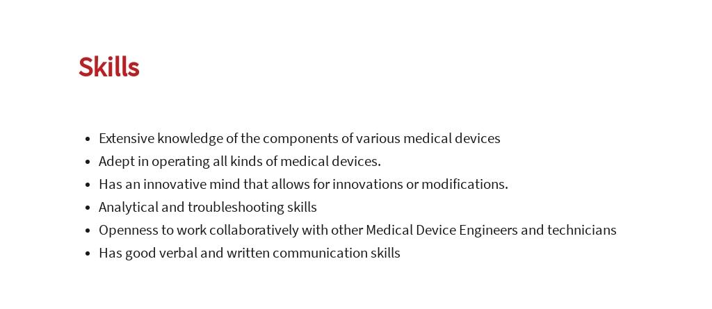 Free Medical Device Engineer Job Ad/Description Template 4.jpe