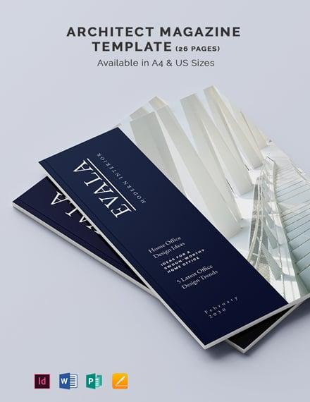 Free Creative Architect Magazine Template