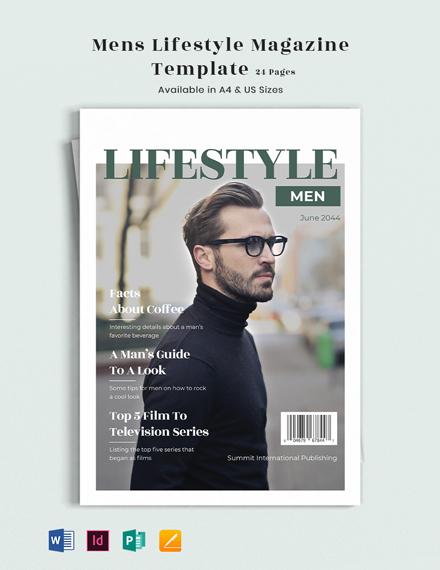 Men's Lifestyle Magazine Template