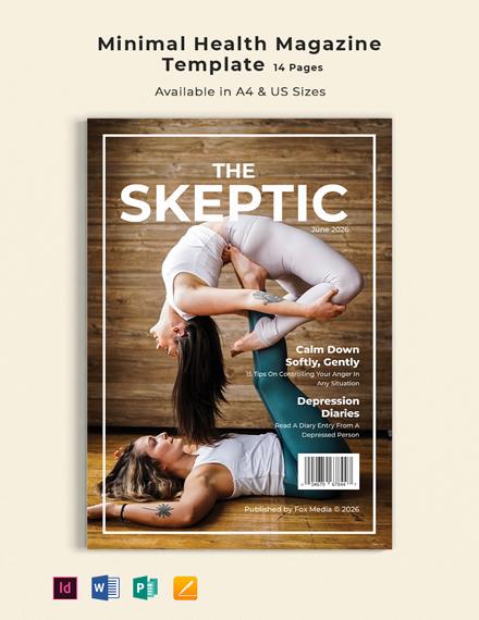 Free Minimal Health Magazine Template