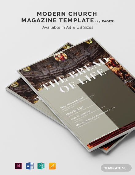 Modern Church Magazine Template