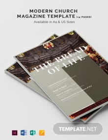 Free Modern Church Magazine Template