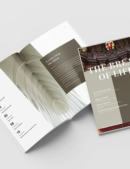 Modern Church Magazine Template