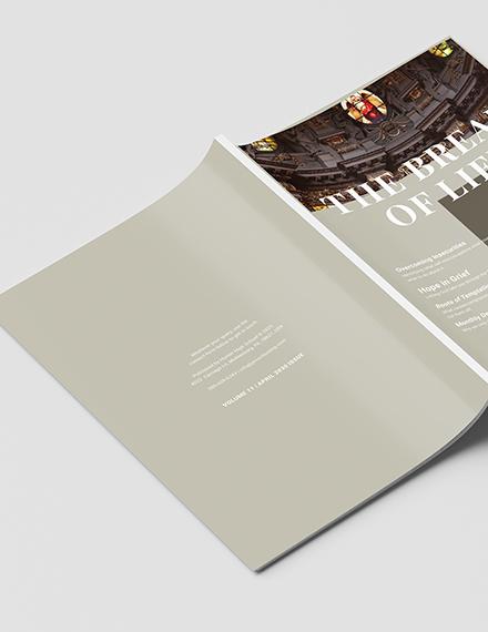 Sample Modern Church Magazine