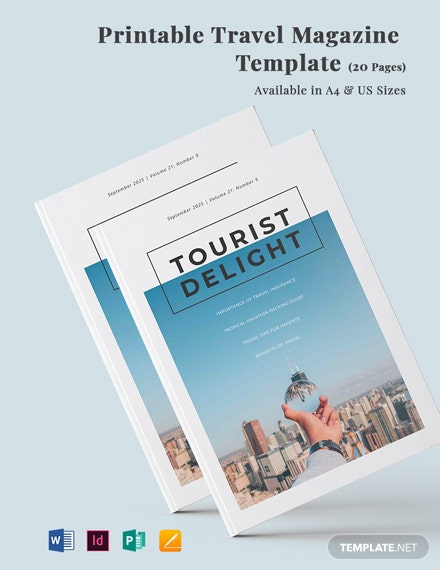 Free Printable Travel Magazine Template