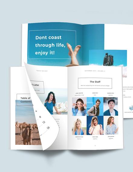 Printable Travel Magazine Template