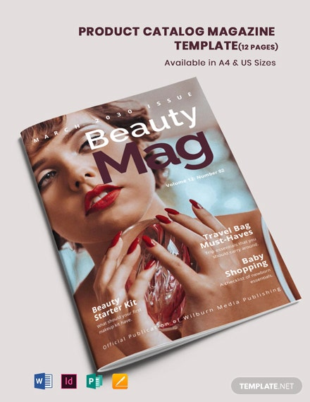 Product Catalog Magazine Template