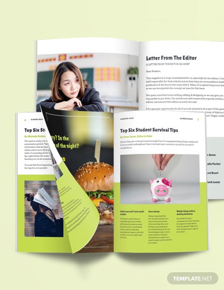 Simple Student Magazine Template
