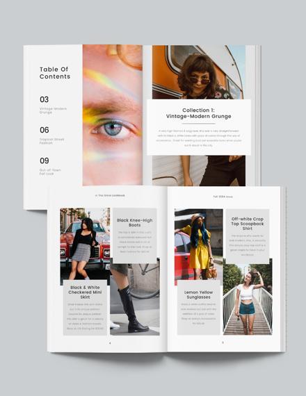 Minimal Photography Lookbook Template