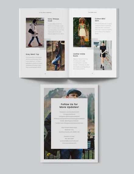 Sample Minimal Photography Lookbook