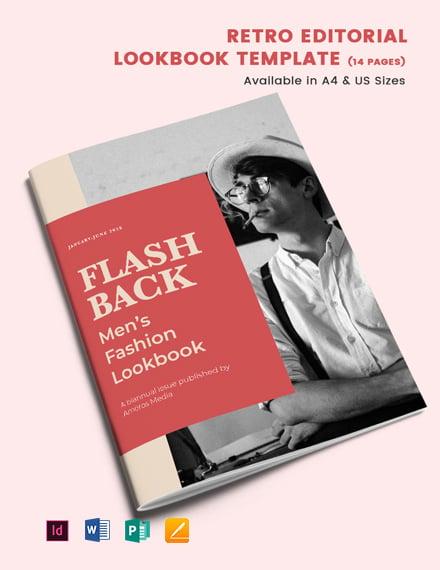 Retro Editorial Lookbook Template
