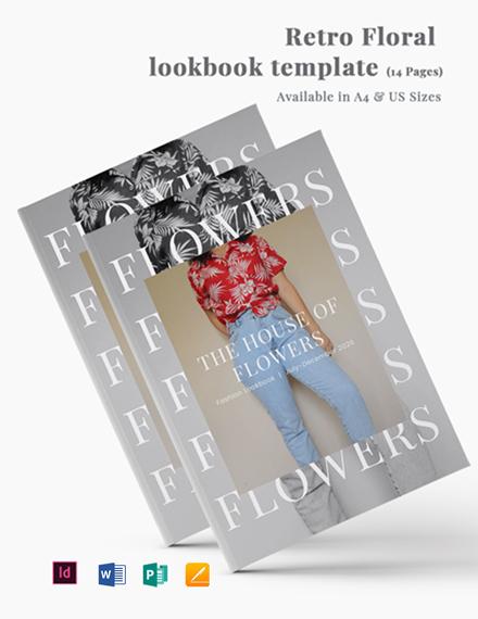 Retro Floral Lookbook Template