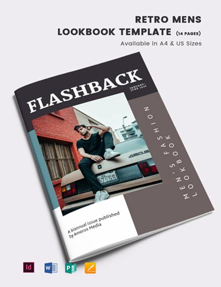 Retro Men's Lookbook Template