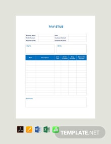 Free Basic Pay Stub Template