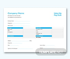 Simple Corporate Business Pay Stub Template
