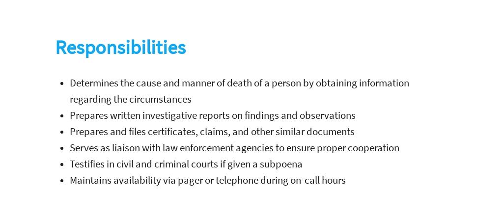 Free Medical Examiner Investigator Job Description Template 3.jpe