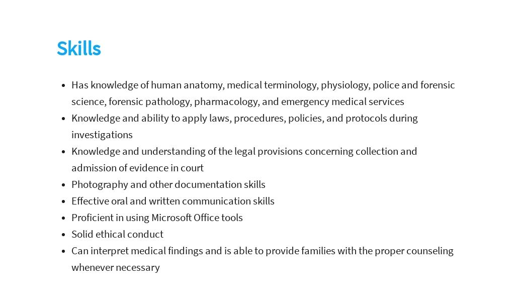 Free Medical Examiner Investigator Job Description Template 4.jpe