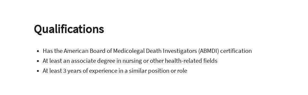 Free Medical Examiner Investigator Job Description Template 5.jpe