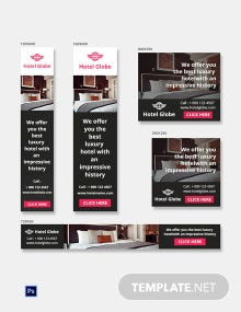 Free Modern Hotel Banner Ads Template