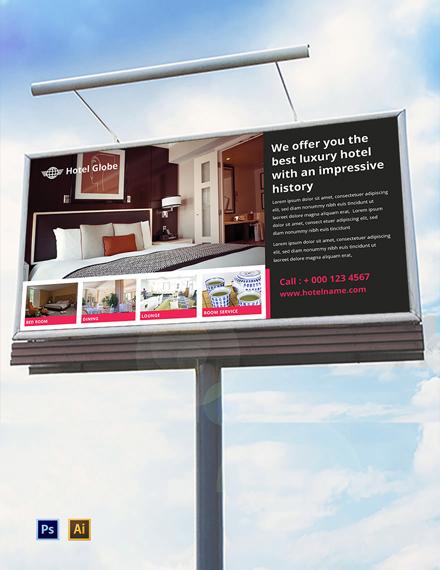 Free Modern Hotel Billboard Template