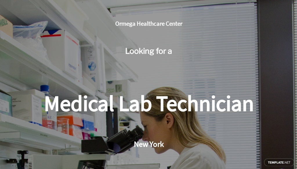 Medical Lab Technician Job Ad/Description Template