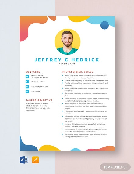 Nursing Aide Resume Template