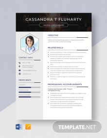 Nursing Case Manager Resume Template