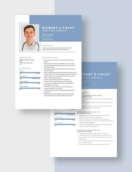 Nursing Clinical Coordinator Resume Download