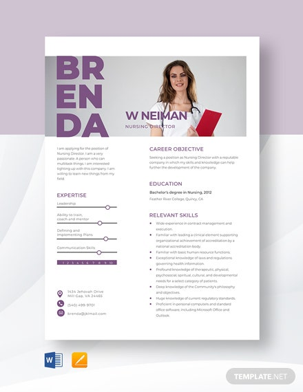 Nursing Director Resume Template