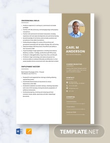 Real Estate Paralegal Resume Template
