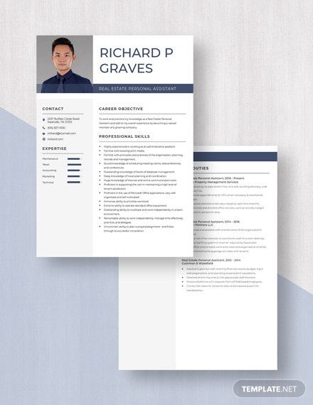 Real Estate Personal Assistant Resume  Download