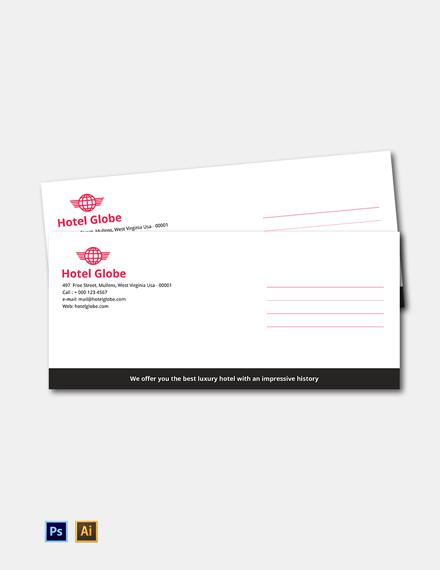 Free Modern Hotel Envelope Template