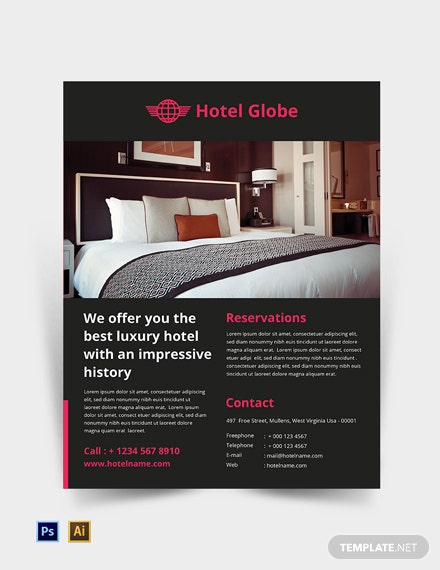 Free Modern Hotel Flyer Template