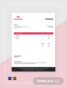 Free Modern Hotel Invoice Template
