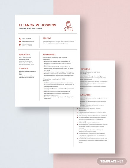Geriatric Nurse Practitioner Resume Download