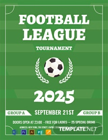 Free Soccer League Flyer Template