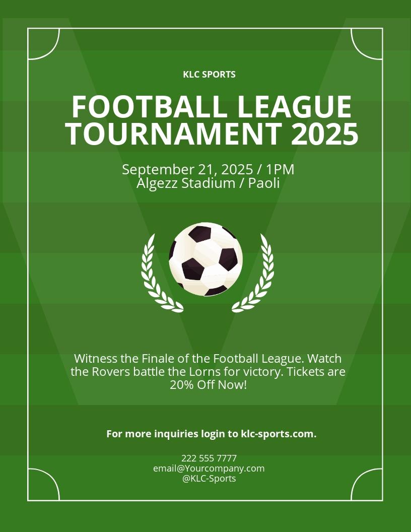 Free Soccer League Flyer Template