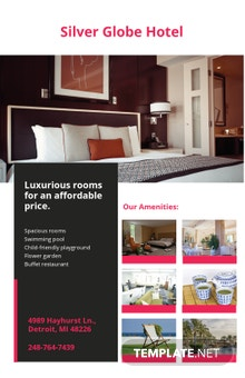Free Modern Hotel Poster Template