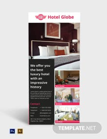 Free Modern Hotel Rack Card Template