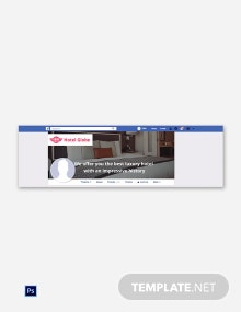 Free Modern Hotel Facebook Cover Page Template