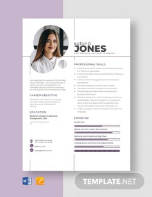 Partnership Account Manager Resume Template